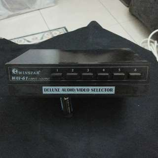 Winstar AV selector (6 Input 1 Output) 分線器