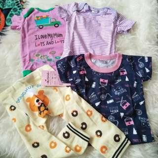baby rompers/t-shirt/legging (new)
