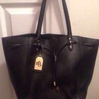 Black Ralph Lauren Leather Bag