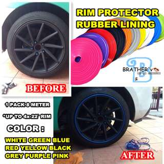 (3) Universal Rim Rubber Protector Rubber Lining