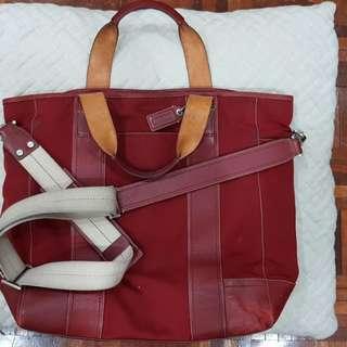 COACH Nylon Shoulder Bag 05364 (RED)