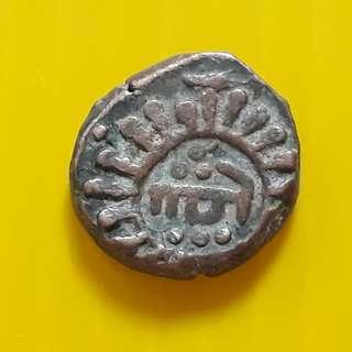 1 Jital - Jalal-ud-Din Raziya (1236-1240) Copper – 3.3 g – ø 14 mm - DELHI SULTAN inda - bi54
