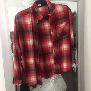 Garage red flannel