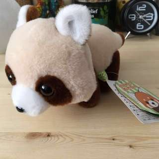 BNWT cute Raccoon Japan doll