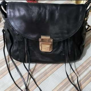 Authentic Rebecca Minkoff leather Crossbody bag in Black