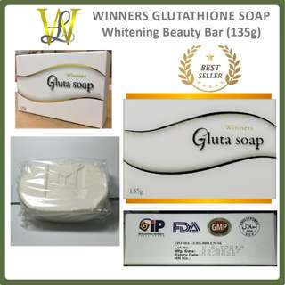 Winners Glutathione Soap Whitening Beauty Bar - 135g (WHITE BOX). - CASH ON DELIVERY!