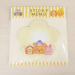 Disney Tsum Tsum Winnie the Pooh and Friends Yellow Colour Flower Shape Sticky Memo Writting Note Pad