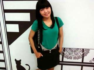 Black Overall Mini Skirt