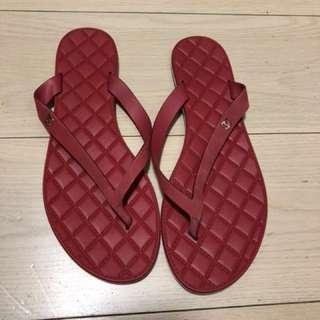 Chanel真皮拖鞋 size39