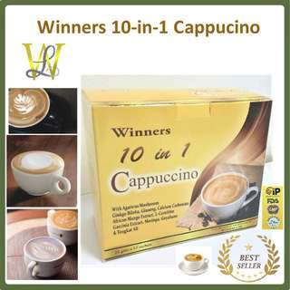 Winners 10-in-1 Cappucino - 21 grams x 12 sachets (Slimming Effect) - CASH ON DELIVERY!