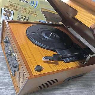 #HUAT50Sale Nostalgic Compact 4 in 1 Turntable