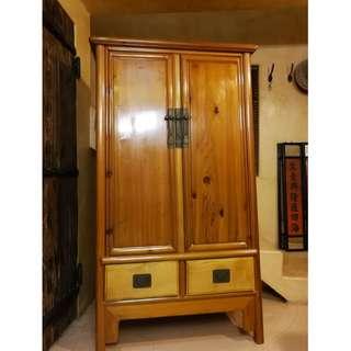明式面條(A字型)榆木衣柜