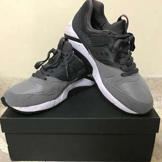 🔥SAUCONY GRID 9000 GREY/HEATHER GREY