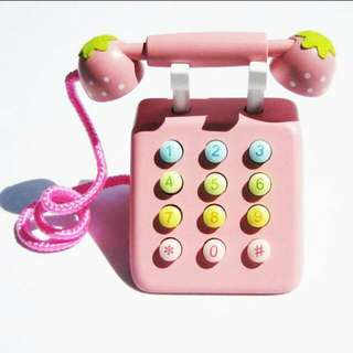 Japan Wooden Telephone pink(Preorder) Free Delivery