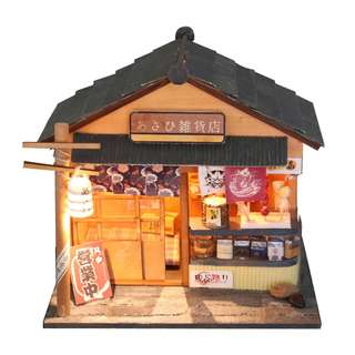 DIY miniature doll house with lights - Chaoyang Grocery Store
