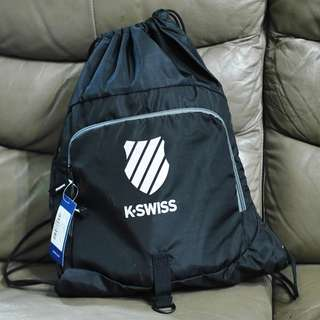 K-Swiss Drawstring bag 束口袋背囊 即日旺角交收 背包 可摺疊 便攜 旅行 行山 打波 輕便 kswiss k.swiss