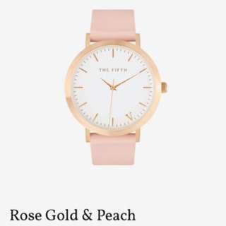 The Fifth Women's Watch Peach and Rose Gold