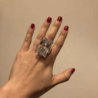 [New] Swarovski Crystal Ring Size 52 Authentic