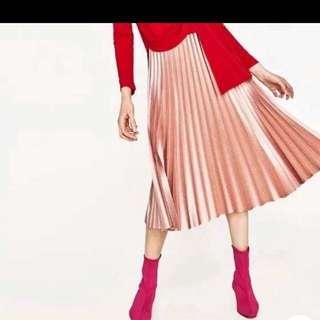 Zara women's accordion skirt size small
