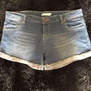 Denim shorts-size 12