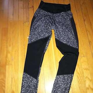 Adidas Patterned Mesh Leggings XS