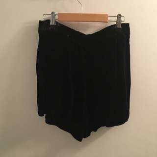 Aritzia Velvet Shorts (Size 2)
