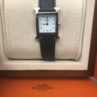 Hermes H Hour PM watch black with silver