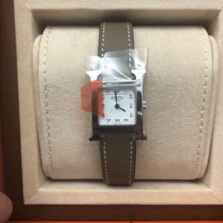 Hermes H Hour PM etoupe with silver