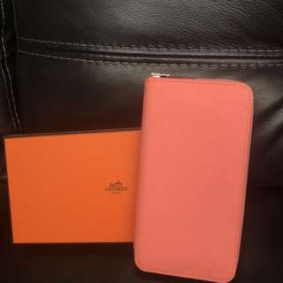 Hermes Azap wallet Togo rose candy