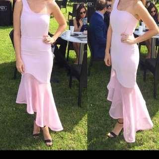 Runway the label pink formal dress