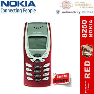 Original Nokia 8250 Refurbished Unlocked Bar Phone ( RED ) - CASH ON DELIVERY!