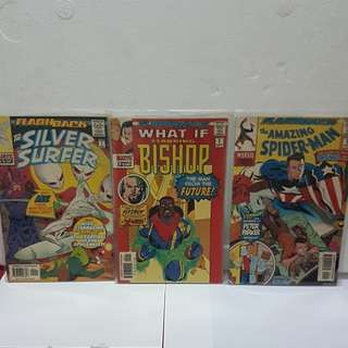 3 #1 1997  FLASHBACK ( The Silver Surfer, What If Bishop & The Amazing Spider man)