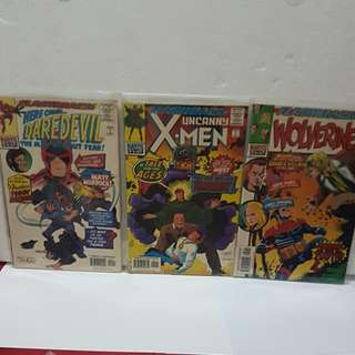 3 #1 1997 Marvel Comics FLASHBACK ( Wolverine, Uncanny X-men & Here Come Daredevil)