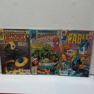 3 #1 1997 FLASHBACK (Cable, Ghost Rider & The Sensational Spider man)