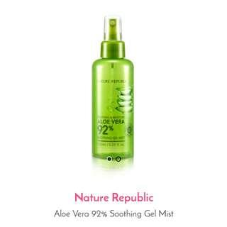 Aloe Vera 92% Soothing Gel Mist
