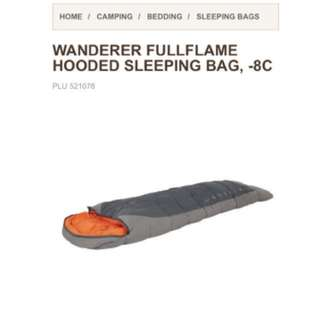 Wanderer Fullflame Hooded Sleeping Bag -8c