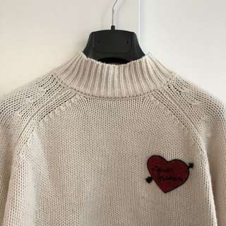 F21 Crop Turtleneck Sweater