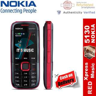 Original Nokia 5130 Xpress Music Refurbished Unlocked Bar Phone.