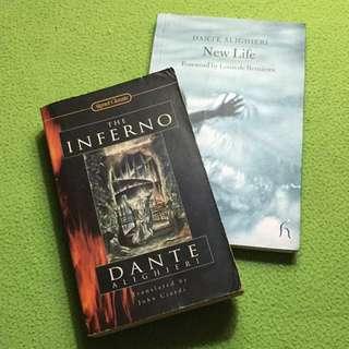 Dante Alighieri books: The Inferno and New Life