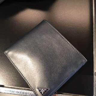 Prada 男裝軟皮包 wallet 銀包