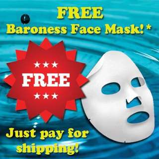 FREE Baroness Korean Beauty Moisturising Facial Mask Sheet!