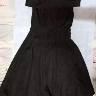 Black Off Shoulder Dress Medium