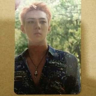 EXO Kokobop Sehun Photocard