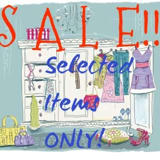 SALE!!! SELECTED ITEMS ONLY!