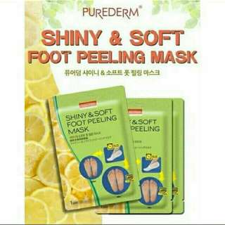 Purederm skin solutions shiny and soft foot peeling mask