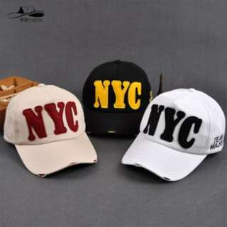 🚚 韓國NYC字母帽子 刺繡 鴨舌帽 棒球帽