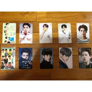exo ez-link card stickers