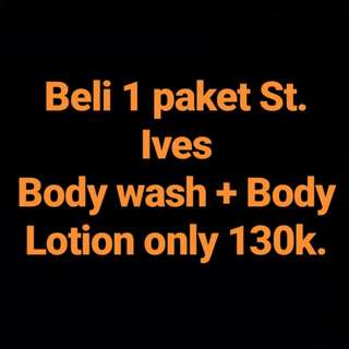 PAKET ST IVES, BODY WASH + BODY LOTION (PROMO)