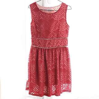 SALE Little Lacey Red Dress (M)