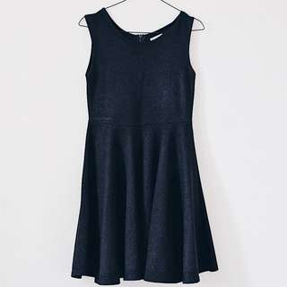 Sparkly Little Black Dress (baby doll) (up to L)